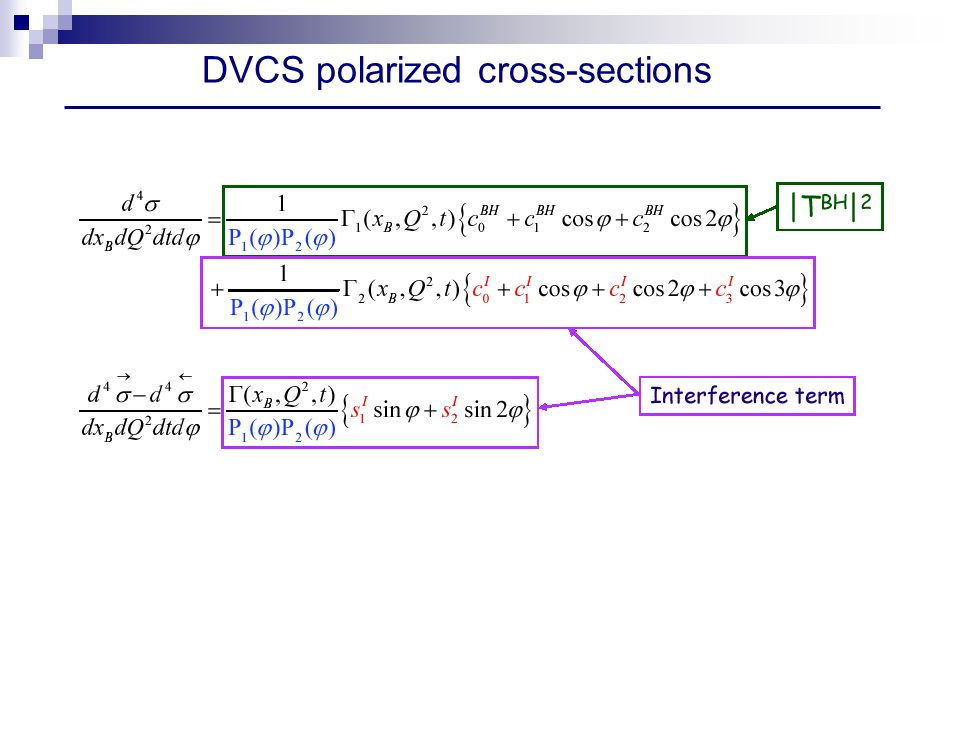 DVCS polarized cross-sections