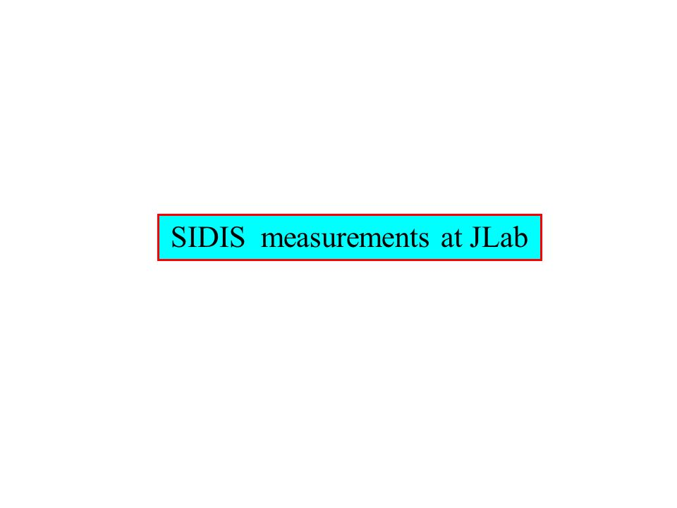 SIDIS measurements at JLab