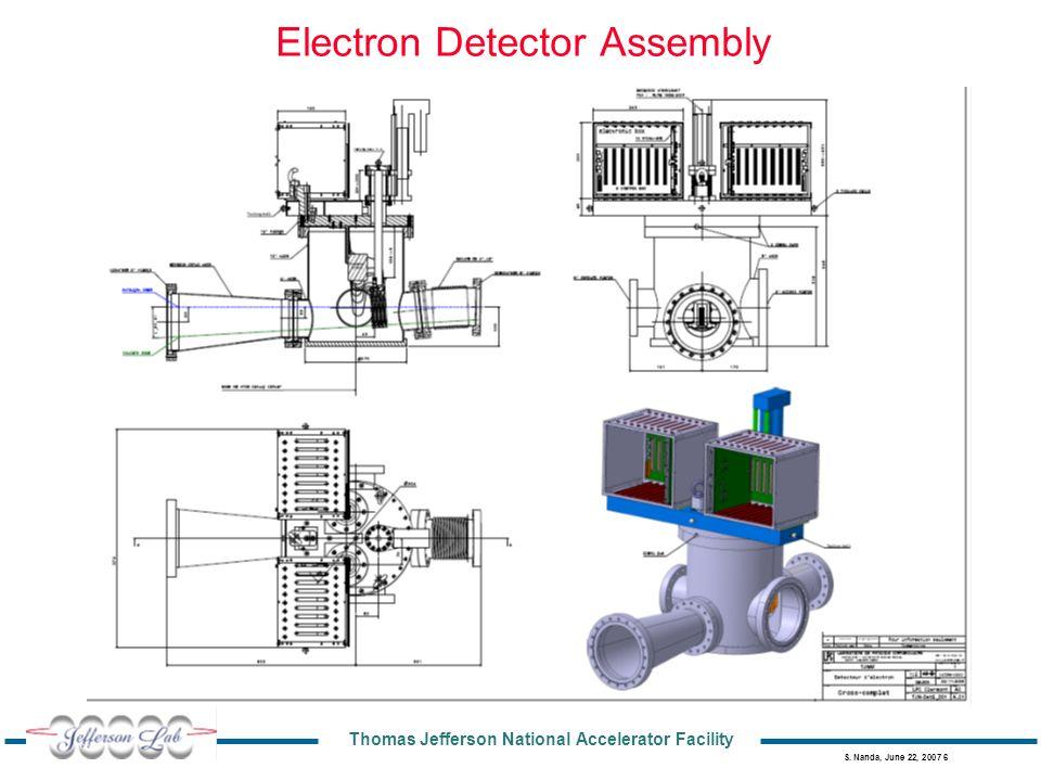 Thomas Jefferson National Accelerator Facility S. Nanda, June 22, 2007 6 Electron Detector Assembly