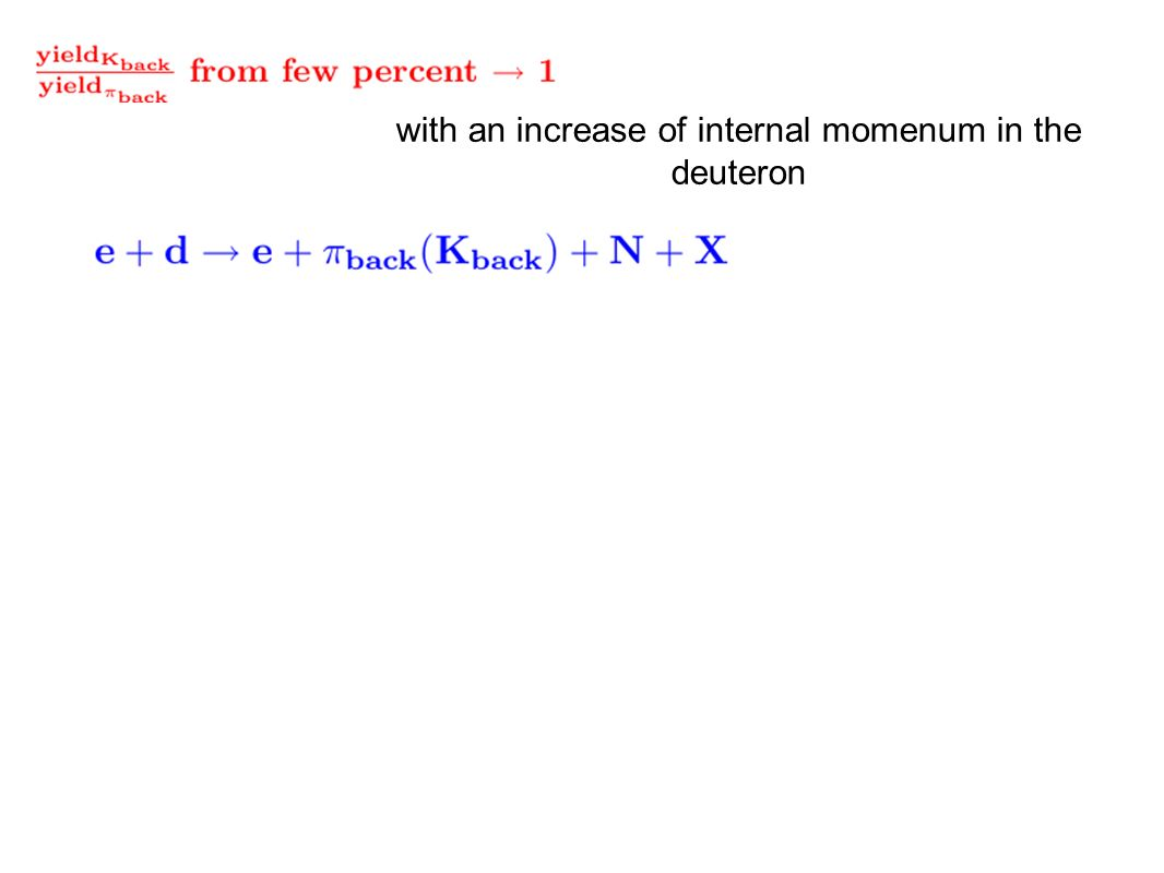 with an increase of internal momenum in the deuteron