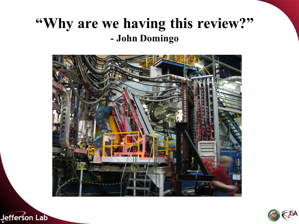 Why are we having this review - John Domingo