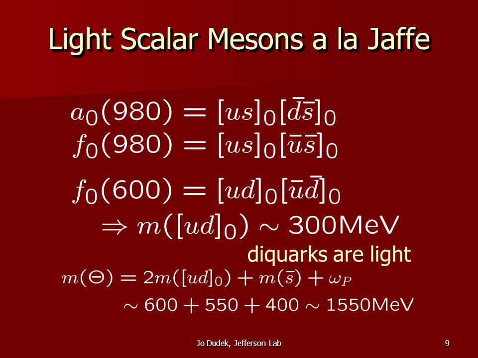 Jo Dudek, Jefferson Lab10 Width in Fall-Apart Dynamics 1 fm square well nK P-wave @ 1540 MeV CG(F) x CG(C) x CG(LS) fall-apart decay mechanism
