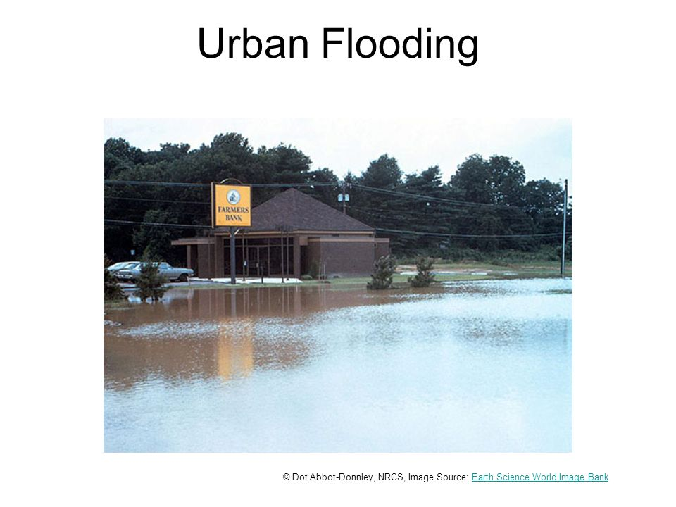 Urban Flooding © Dot Abbot-Donnley, NRCS, Image Source: Earth Science World Image BankEarth Science World Image Bank