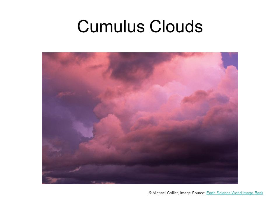 Cumulus Clouds © Michael Collier, Image Source: Earth Science World Image BankEarth Science World Image Bank