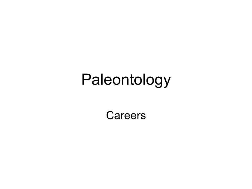 Paleontology Careers