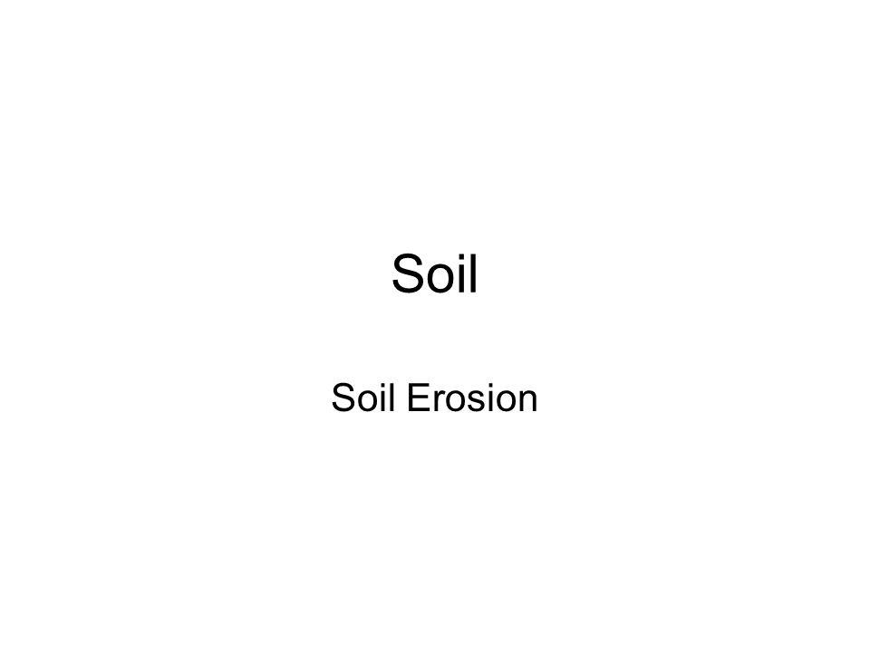 Soil Soil Erosion