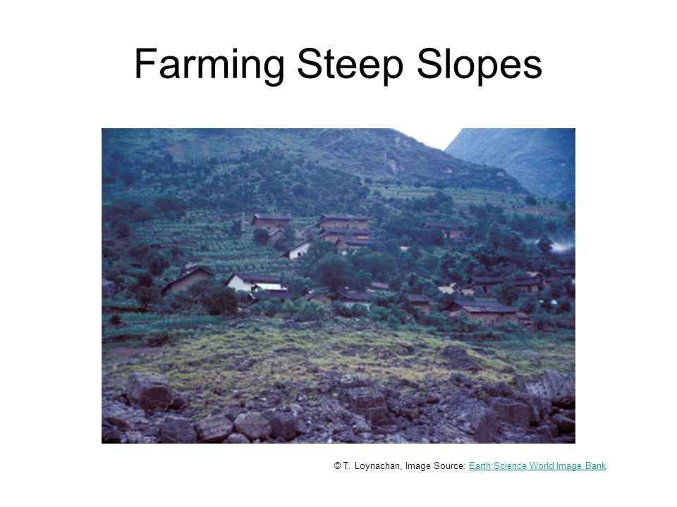 Farming Steep Slopes © T.