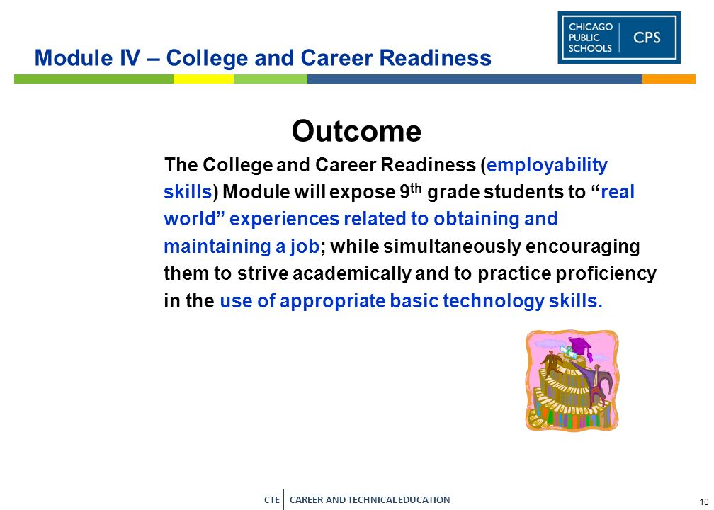 8 CTE CAREER AND TECHNICAL EDUCATION Module II – College and Career Exploration Career Awareness Lesson Plans Completion Time IT Skill/sOther SkillsAs