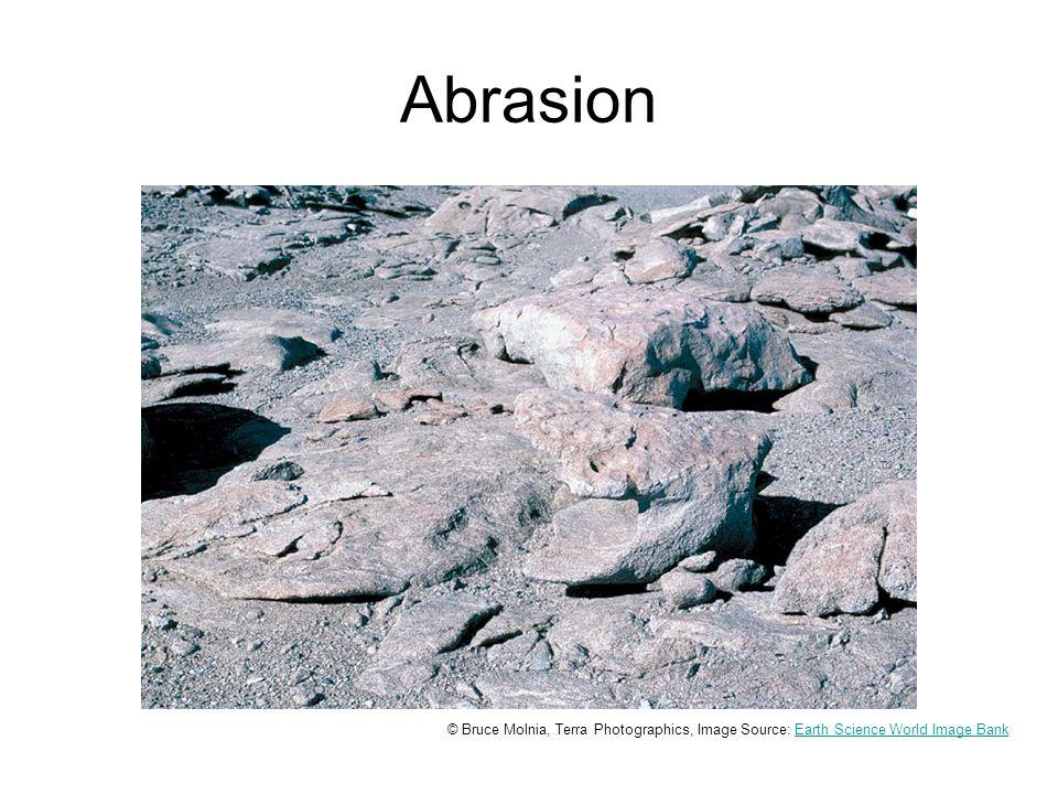 Abrasion © Bruce Molnia, Terra Photographics, Image Source: Earth Science World Image BankEarth Science World Image Bank