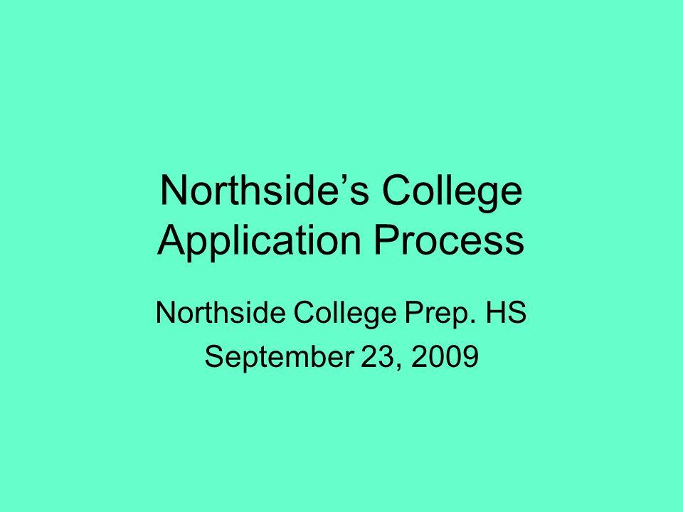 Northsides College Application Process Northside College Prep. HS September 23, 2009