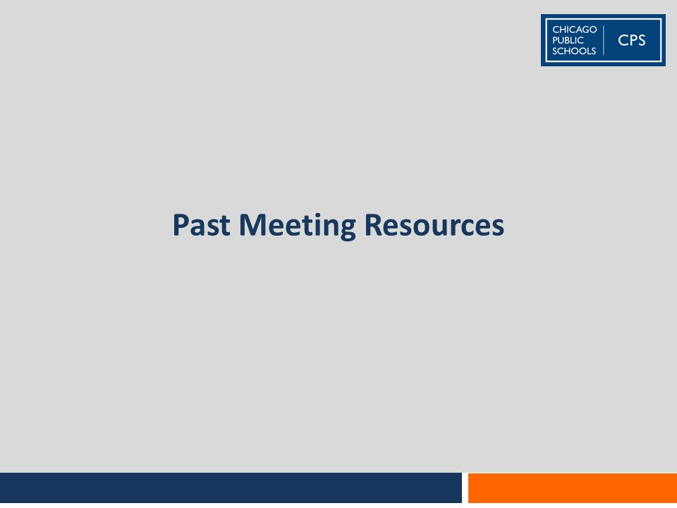 Past Meeting Resources