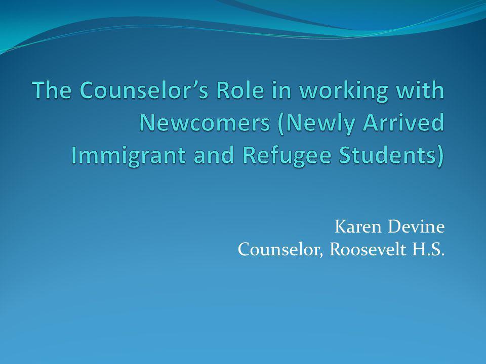 Karen Devine Counselor, Roosevelt H.S.