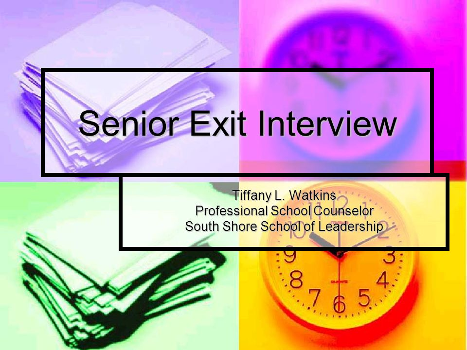 Senior Exit Interview Tiffany L.