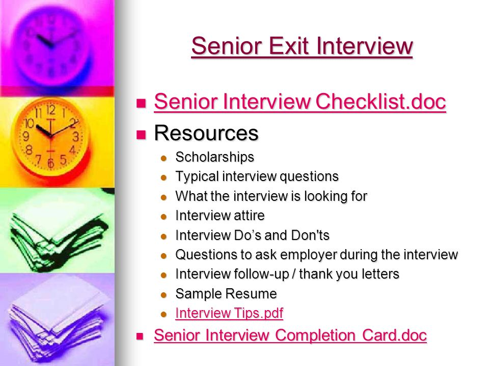 senior exit interview tiffany l watkins professional school