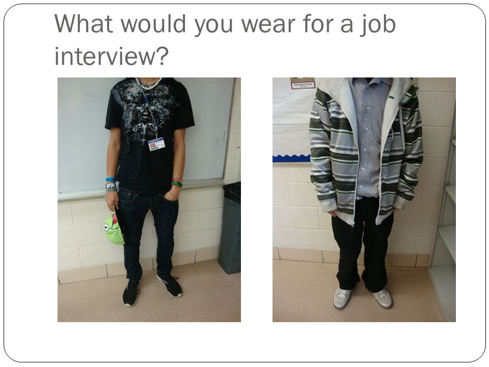 What would you wear for a job interview