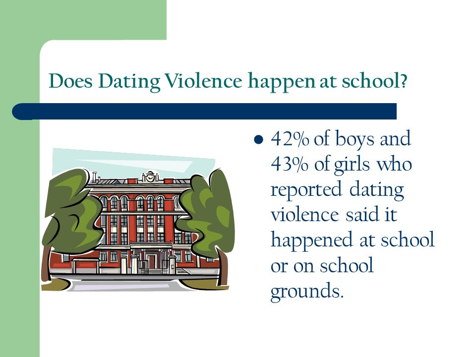 Does Dating Violence happen at school.