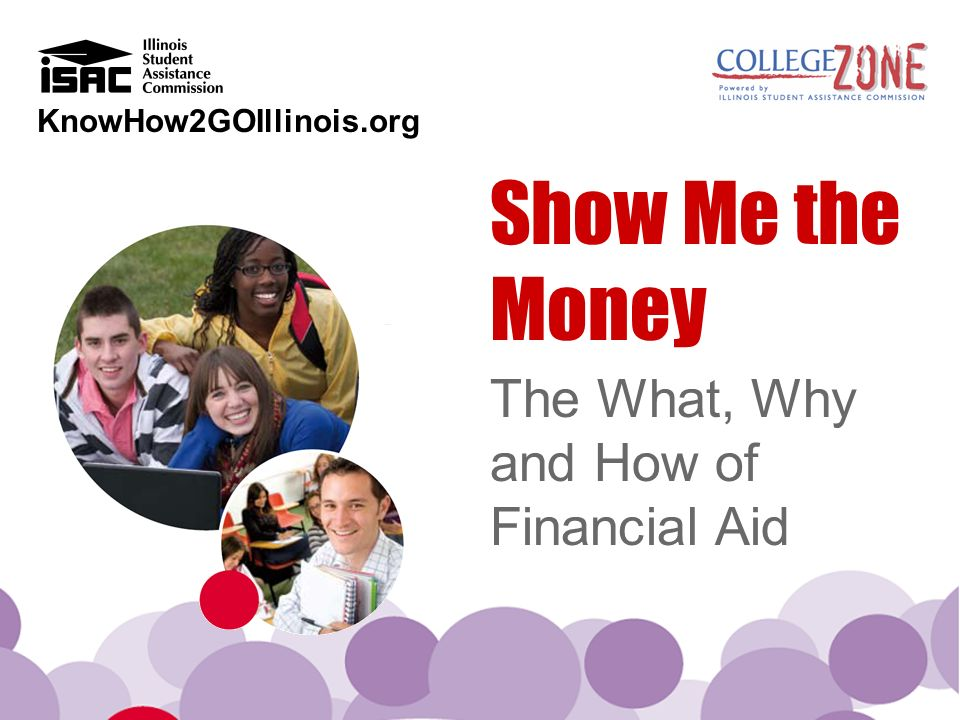 KnowHow2GOIllinois.org Show Me the Money The What, Why and How of Financial Aid