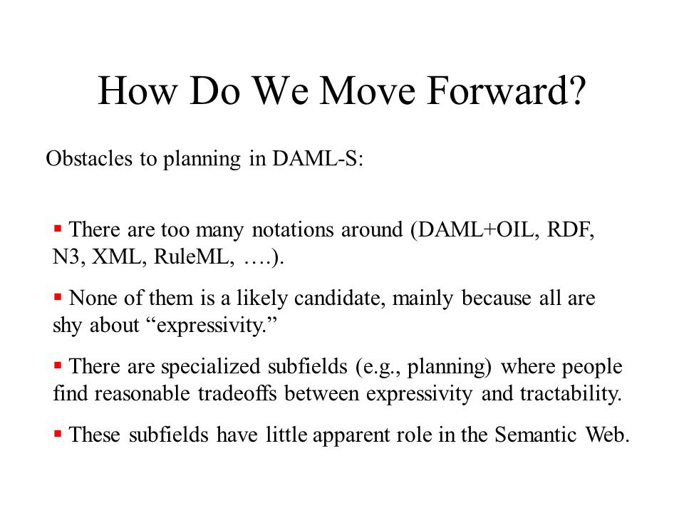 How Do We Move Forward.