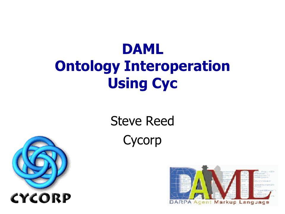 DAML Ontology Interoperation Using Cyc Steve Reed Cycorp