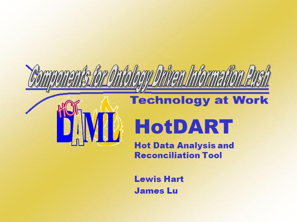 HotDART Hot Data Analysis and Reconciliation Tool Lewis Hart James Lu