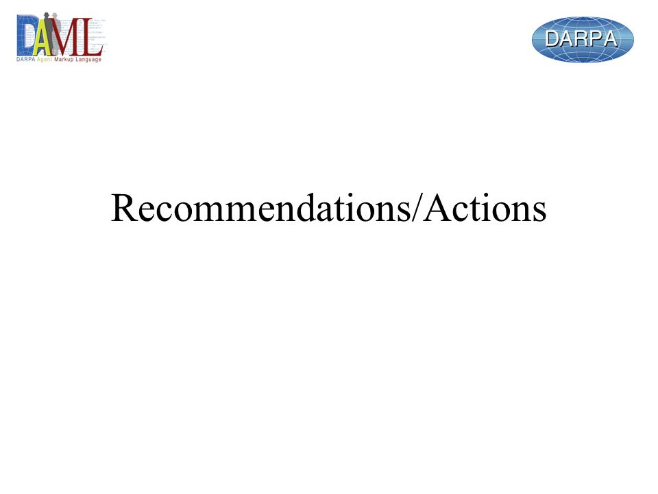Recommendations/Actions