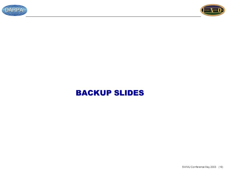 SWMU Conference May 2003 (19) BACKUP SLIDES