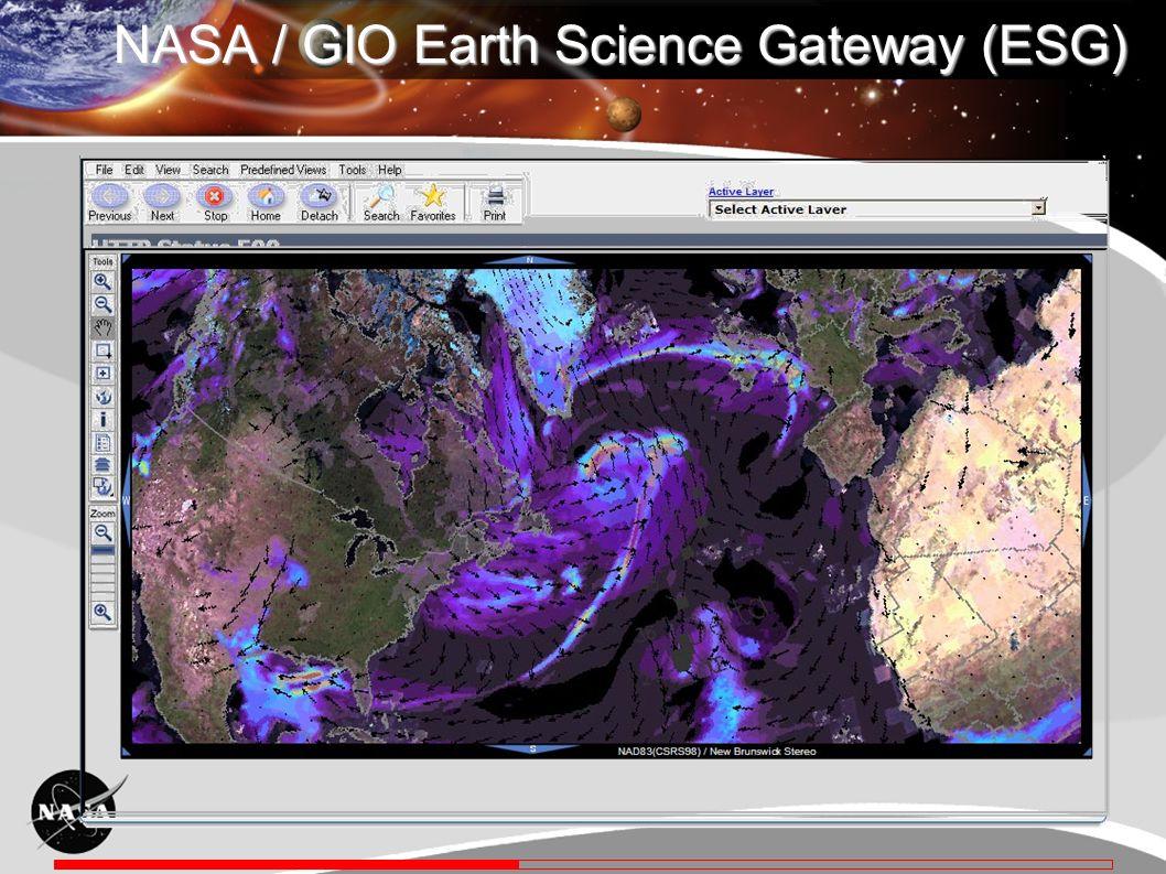 NASA / GIO Earth Science Gateway (ESG)
