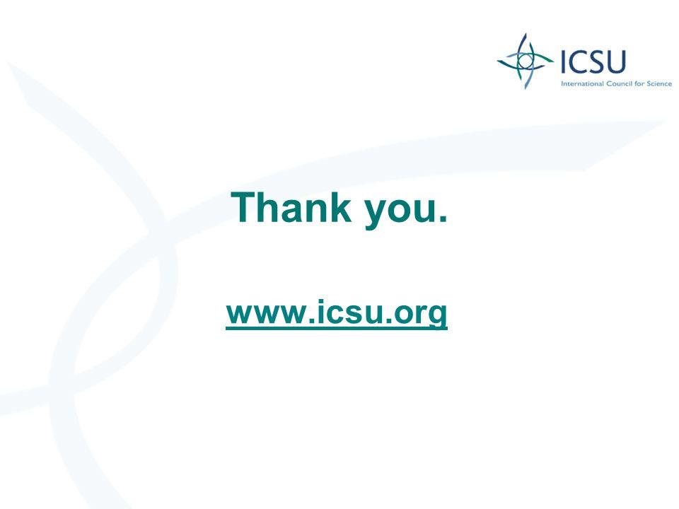 Thank you. www.icsu.org