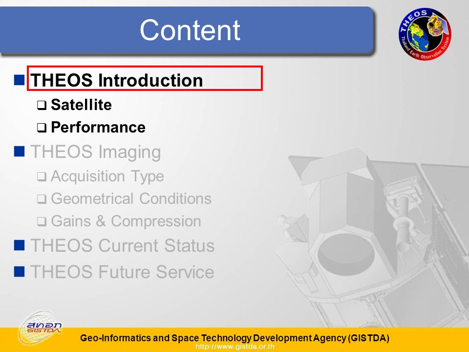 Geo-Informatics and Space Technology Development Agency (GISTDA) Geometrical Conditions With up to 50° roll, the accessibility is better than 1 day for 90% of the earth.
