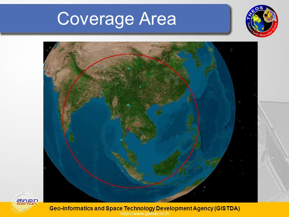 Geo-Informatics and Space Technology Development Agency (GISTDA) Coverage Area