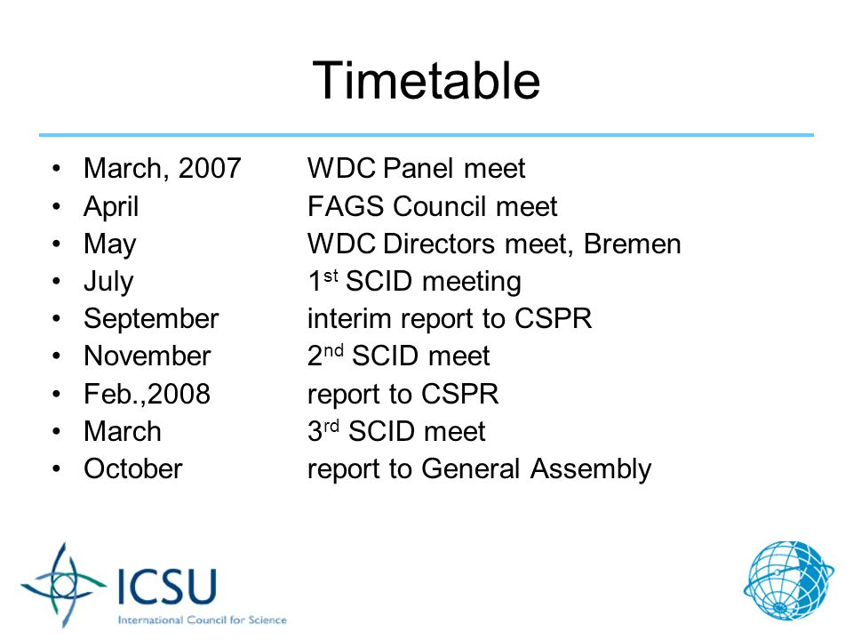 FAGS Meeting, April 2, 2007 J.B.