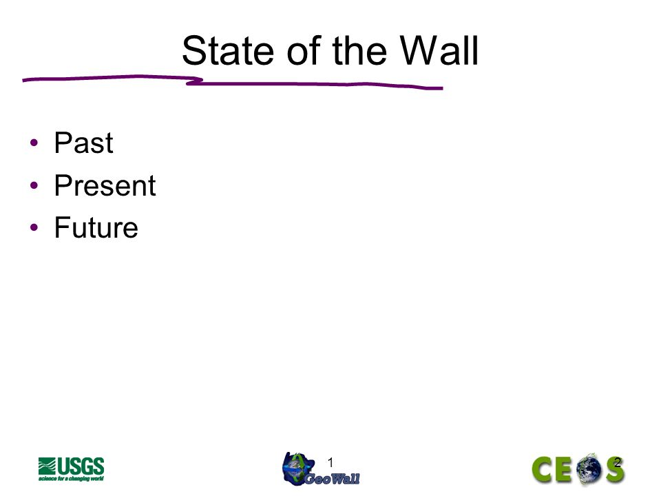 12 State of the Wall Past Present Future