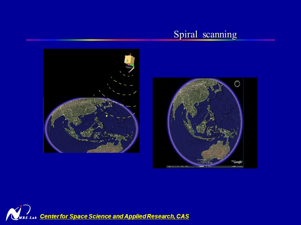 Center for Space Science and Applied Research, CAS Spiral scanning