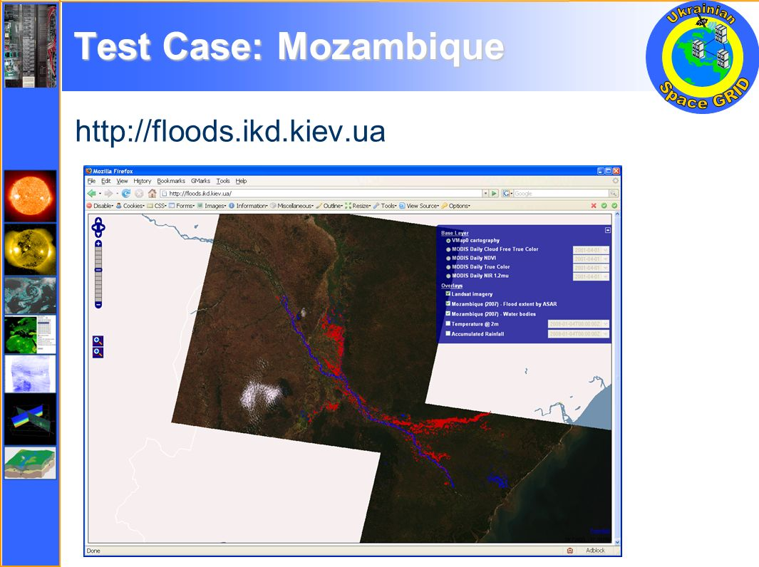 Test Case: Mozambique http://floods.ikd.kiev.ua