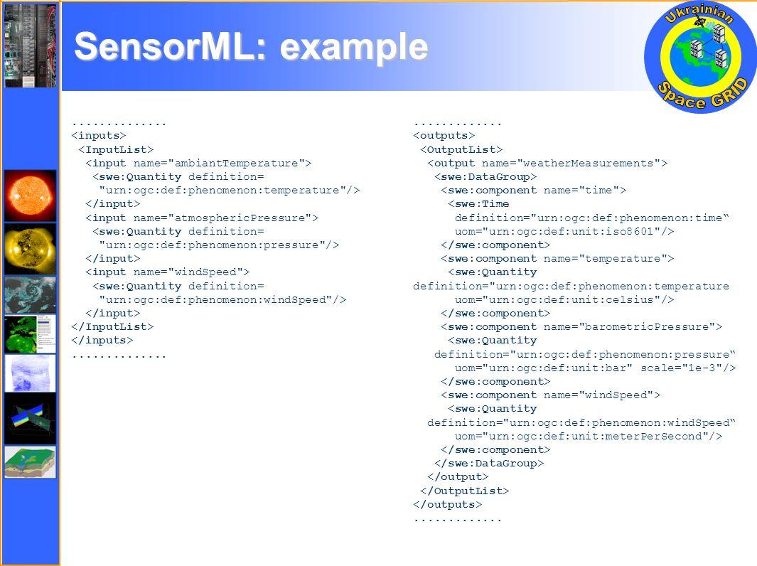 SensorML: example..............