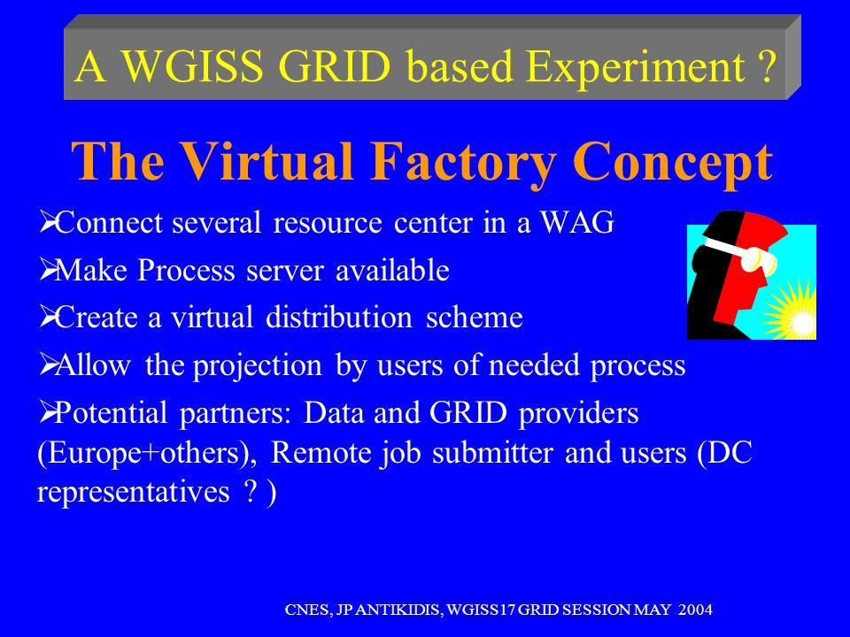 A WGISS GRID based Experiment .