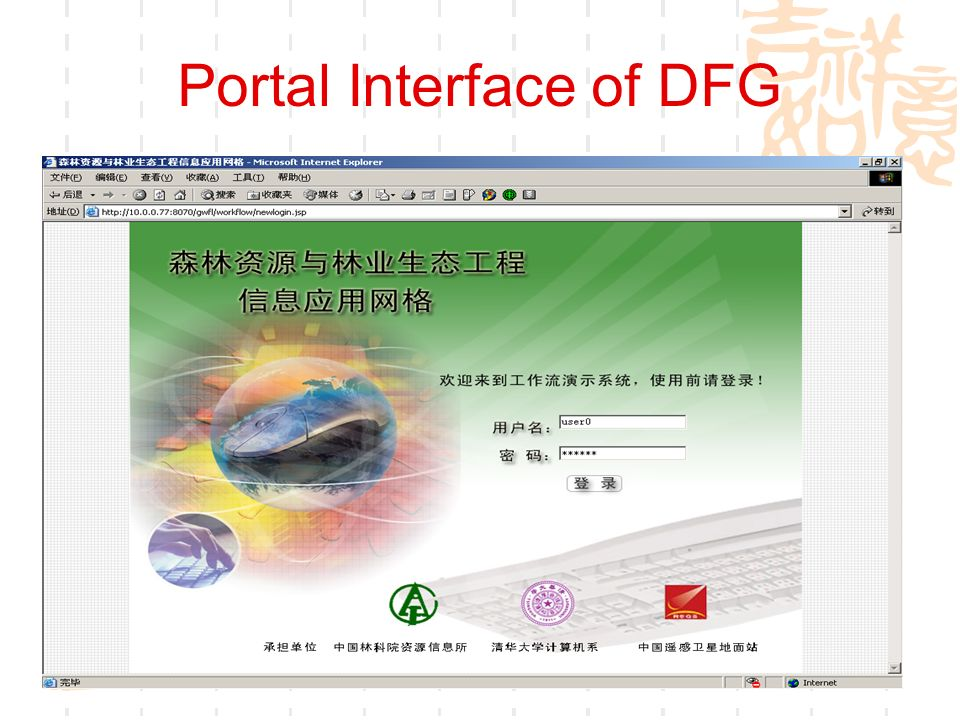 Portal Interface of DFG