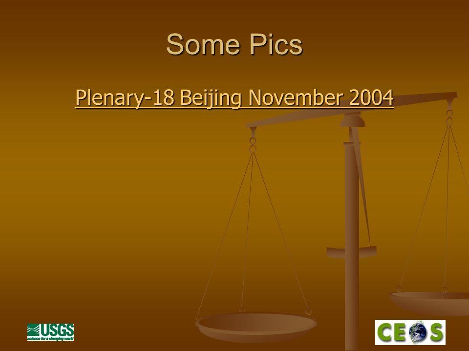 Some Pics Plenary-18 Beijing November 2004 Plenary-18 Beijing November 2004