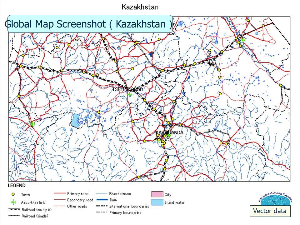 iscgm.org Nepal 2 Boundaries, Vegitations From ESE Horizontal-Vertical Ratio 1:10 Global Map Screenshot Nepal Kathmandu