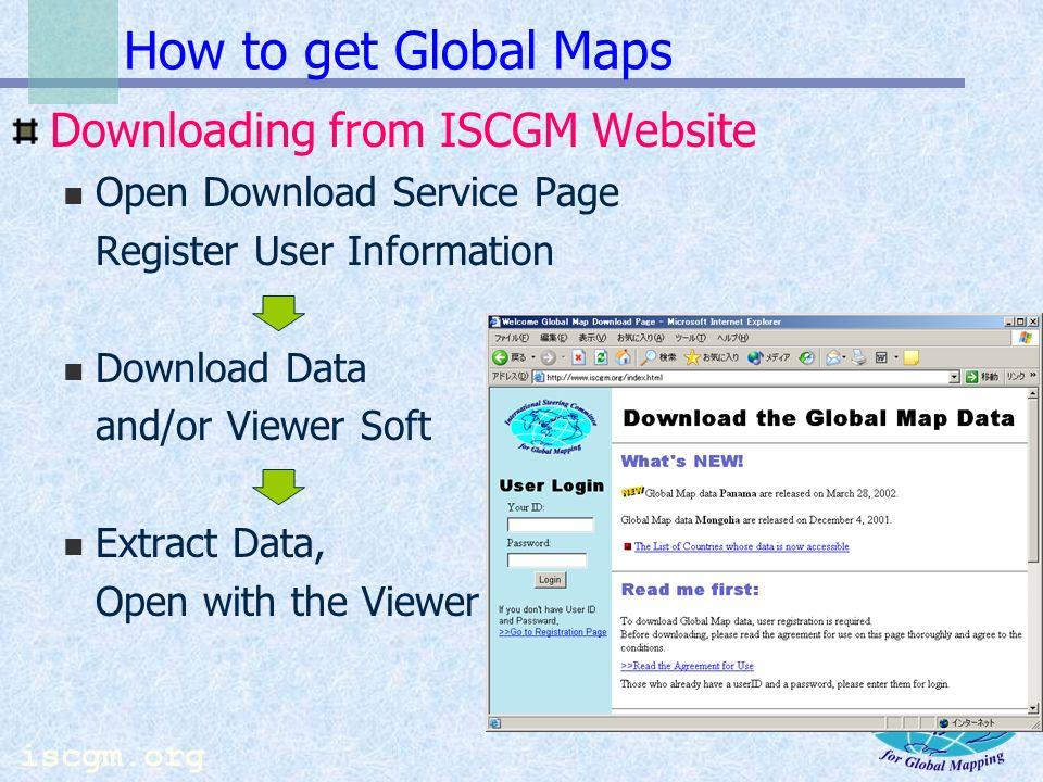 iscgm.org Kazakhstan Vector data Global Map Screenshot Kazakhstan