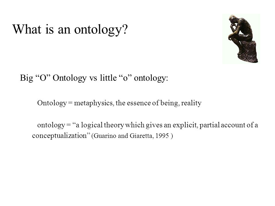 What is an ontology.