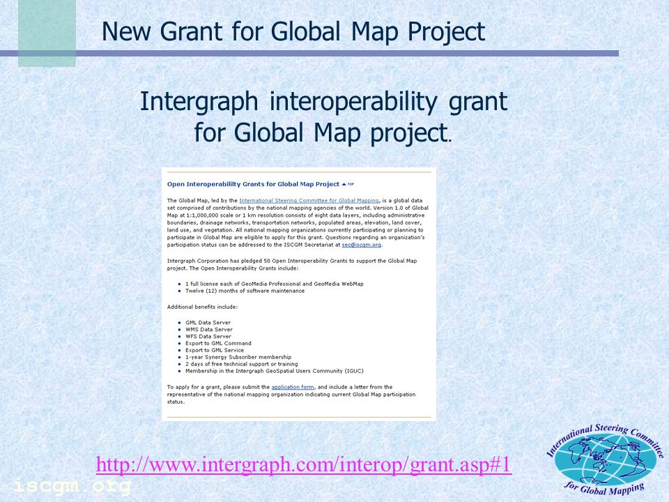 iscgm.org (continued) From FIG Website TS51 Global Geo-information for Sustainable Development Part II