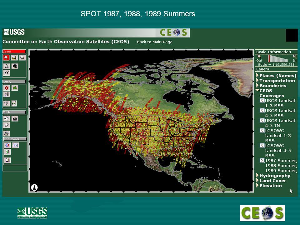 SPOT 1987, 1988, 1989 Summers