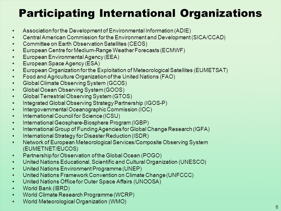 17 Summary of Activities Accomplishments GEO-3 Draft Communiqué Invites governing bodies of international and regional organizations sponsoring existing Earth observing systems to support GEO actions Draft Frame Work Document Notes WMO achievements and the need for advancements in other areas including WCRP, GOOS, ISDR, GCOS and IGOS Themes New Implementation Plan Task Team (IPTT) Four members – GEO Co chairs Will prepare the 10-Year Implementation Plan Capacity Building will initially focus on Education and Training Group on Earth bservations Group on Earth bservations