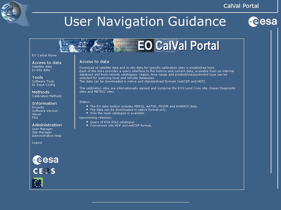 User Navigation Guidance