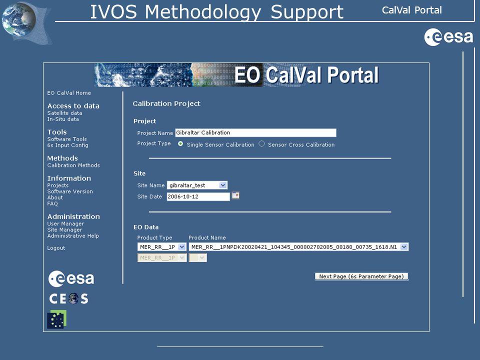 CalVal Portal IVOS Methodology Support