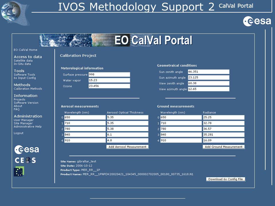 CalVal Portal IVOS Methodology Support 2