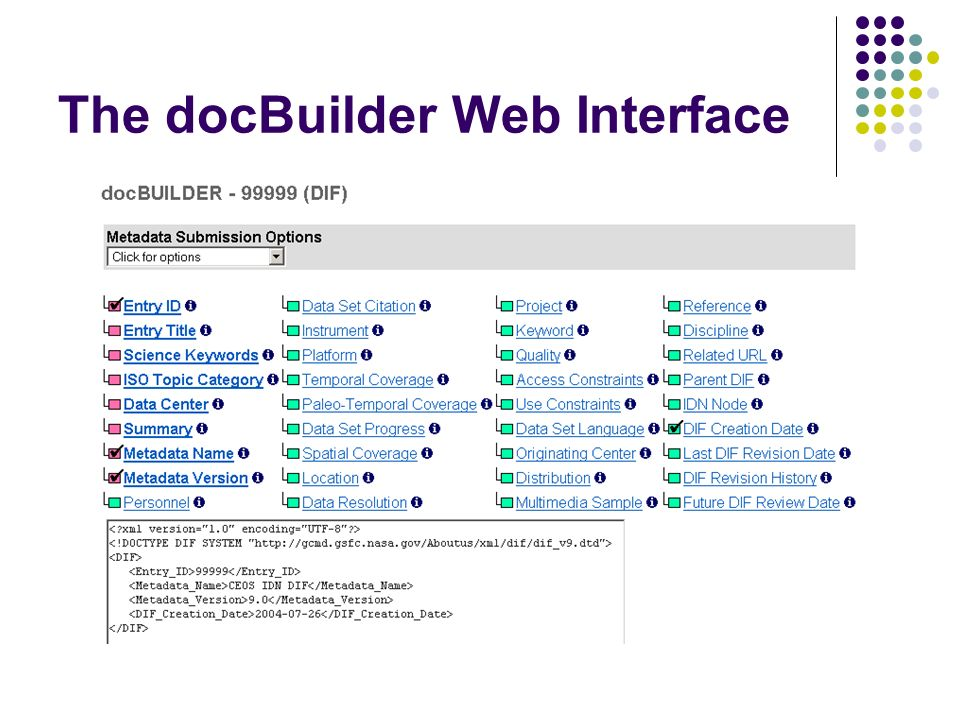 The docBuilder Web Interface