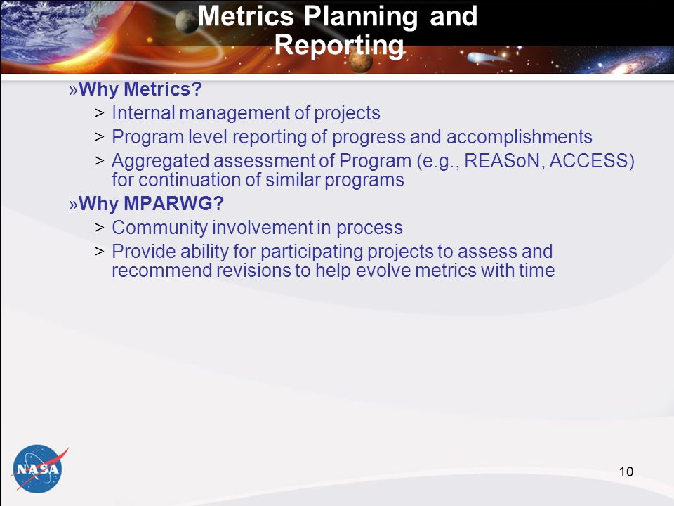 10 Metrics Planning and Reporting »Why Metrics.