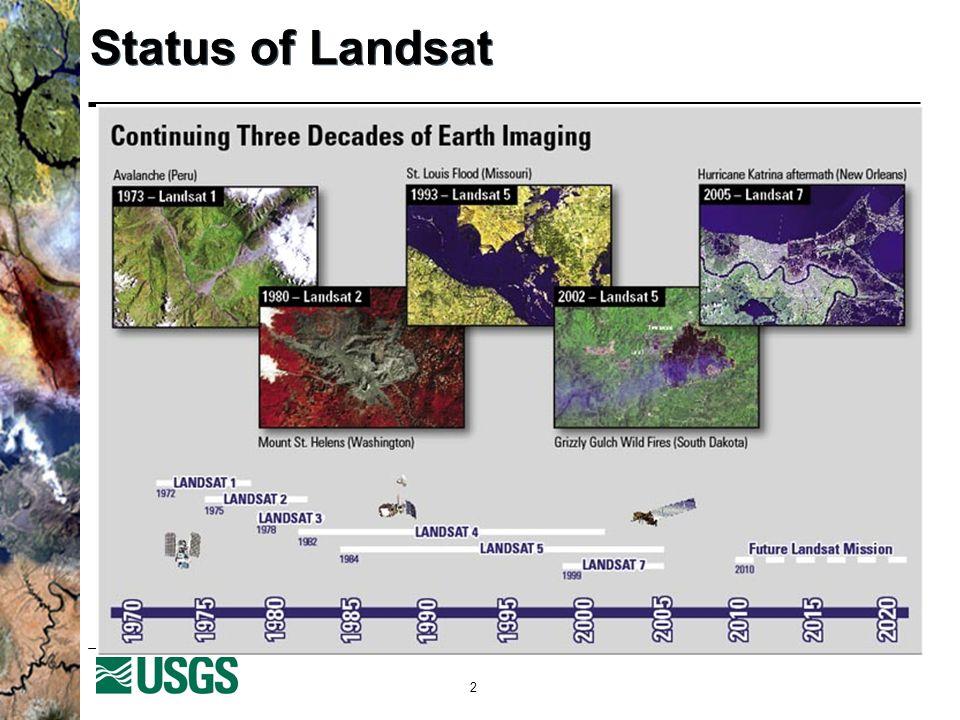 2 Status of Landsat